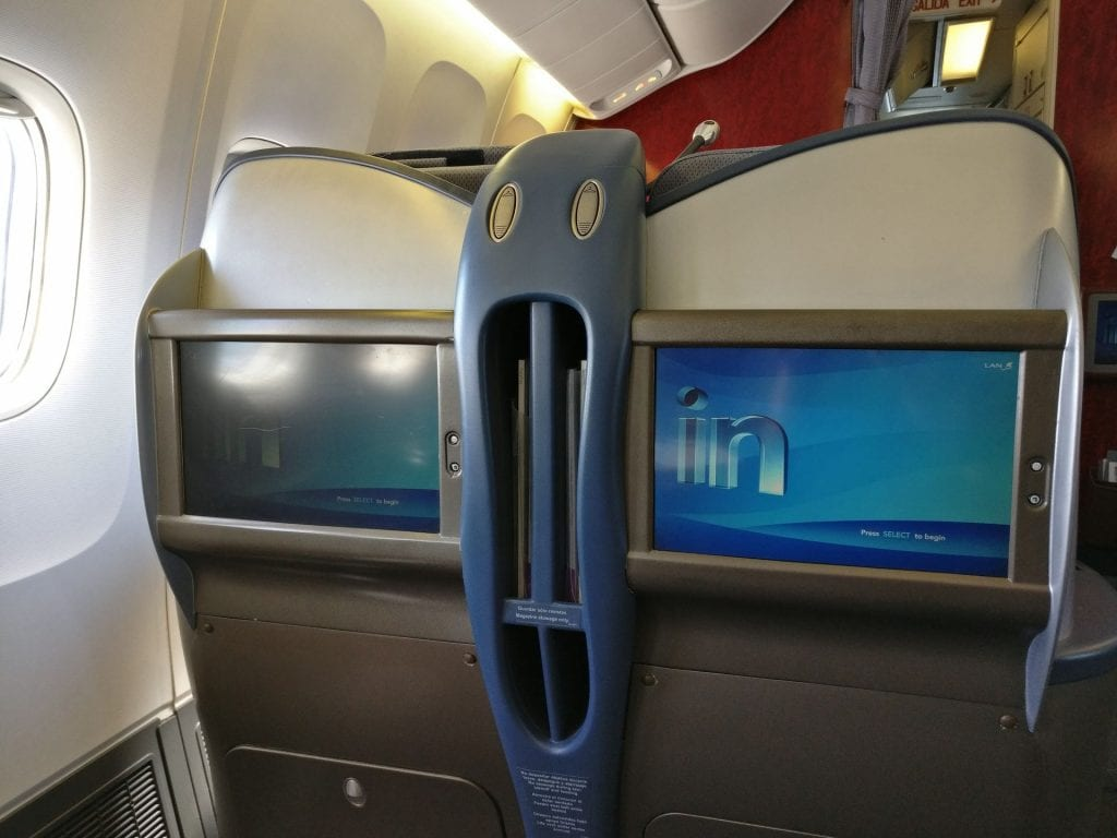 LATAM Business Class Boeing 767 Seat 4