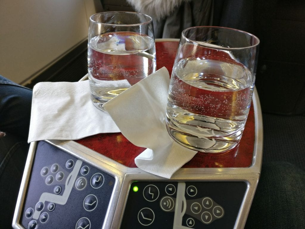 LATAM Business Class Boeing 767 Welcome Drink