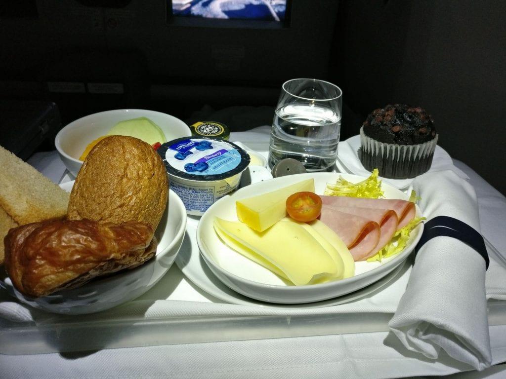 LATAM Business Class Boeing 787 Breakfast