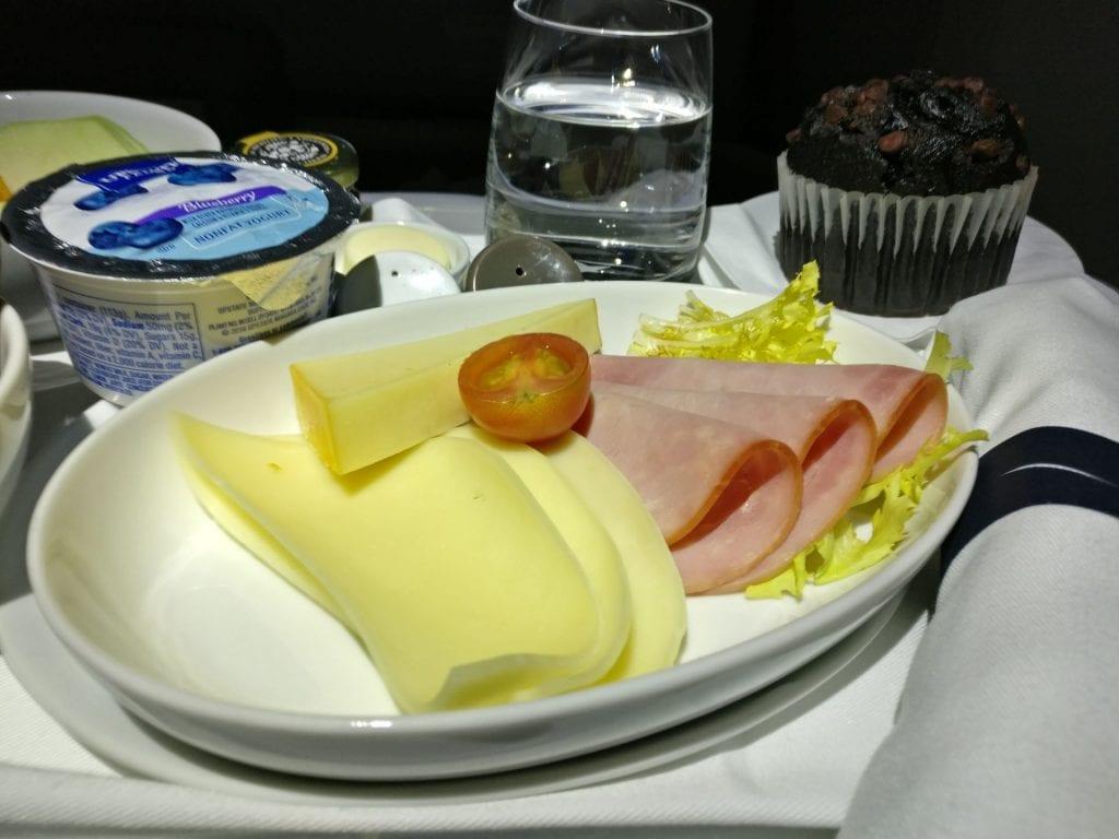 LATAM Business Class Boeing 787 Breakfast 2