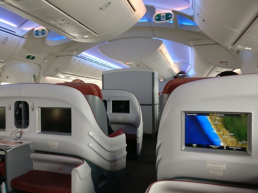 LATAM Business Class Boeing 787 Cabin