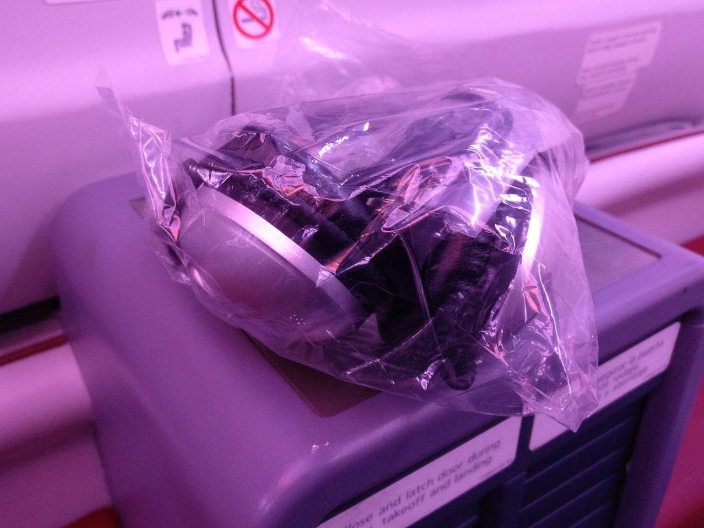 LATAM Business Class Boeing 787 Headphones