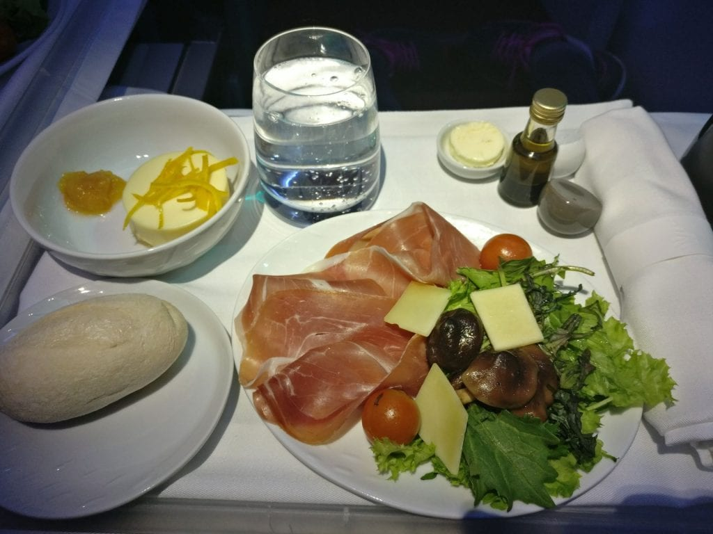 LATAM Business Class Boeing 787 Lunch