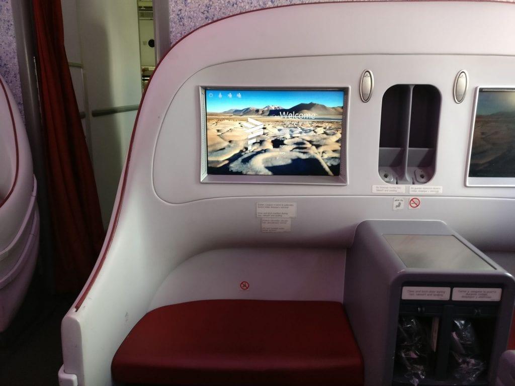 LATAM Business Class Boeing 787 Seat 10