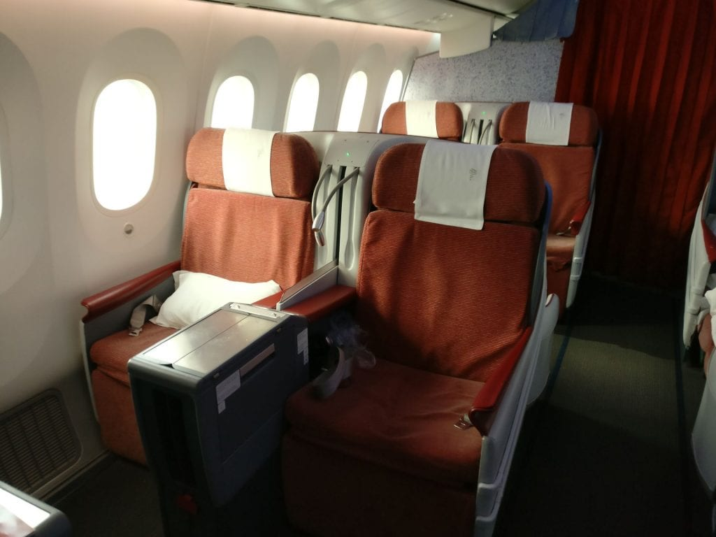 LATAM Business Class Boeing 787 Seat 2