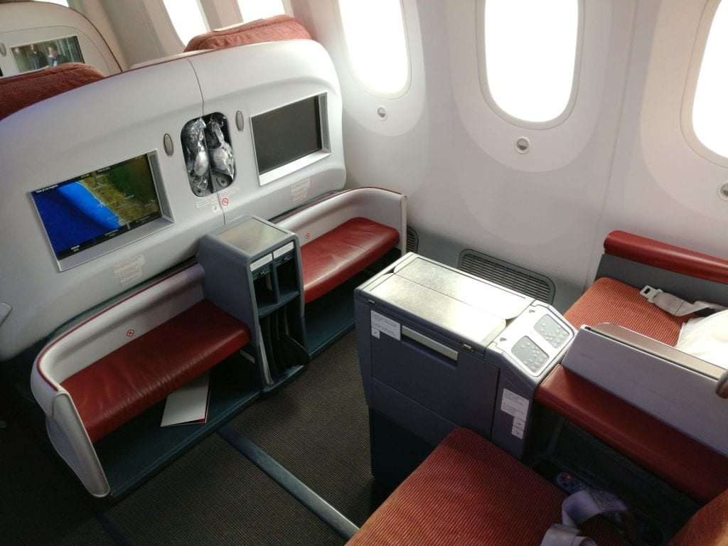 LATAM Business Class Boeing 787 Seat 3