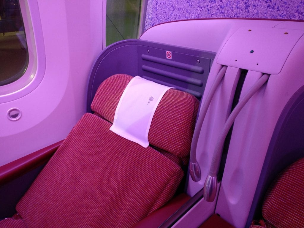 LATAM Business Class Boeing 787 Seat 4