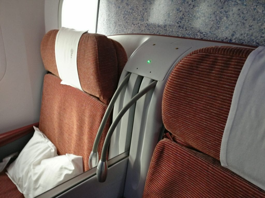 LATAM Business Class Boeing 787 Seat 9