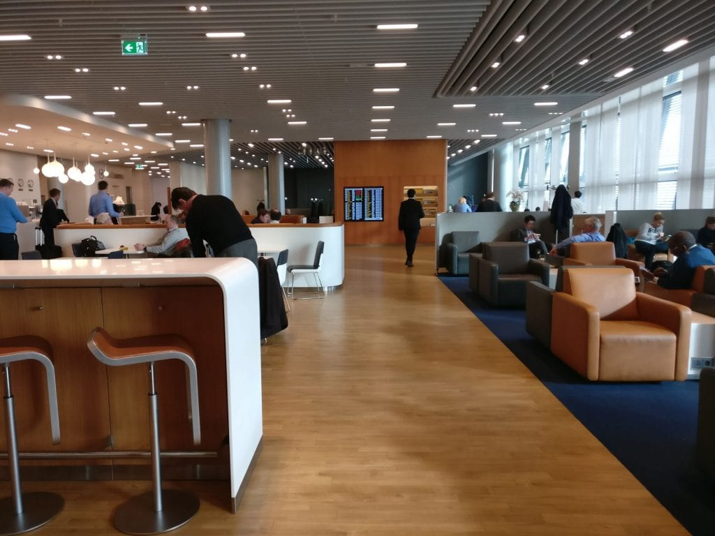 Lufthansa Business Lounge London Seating