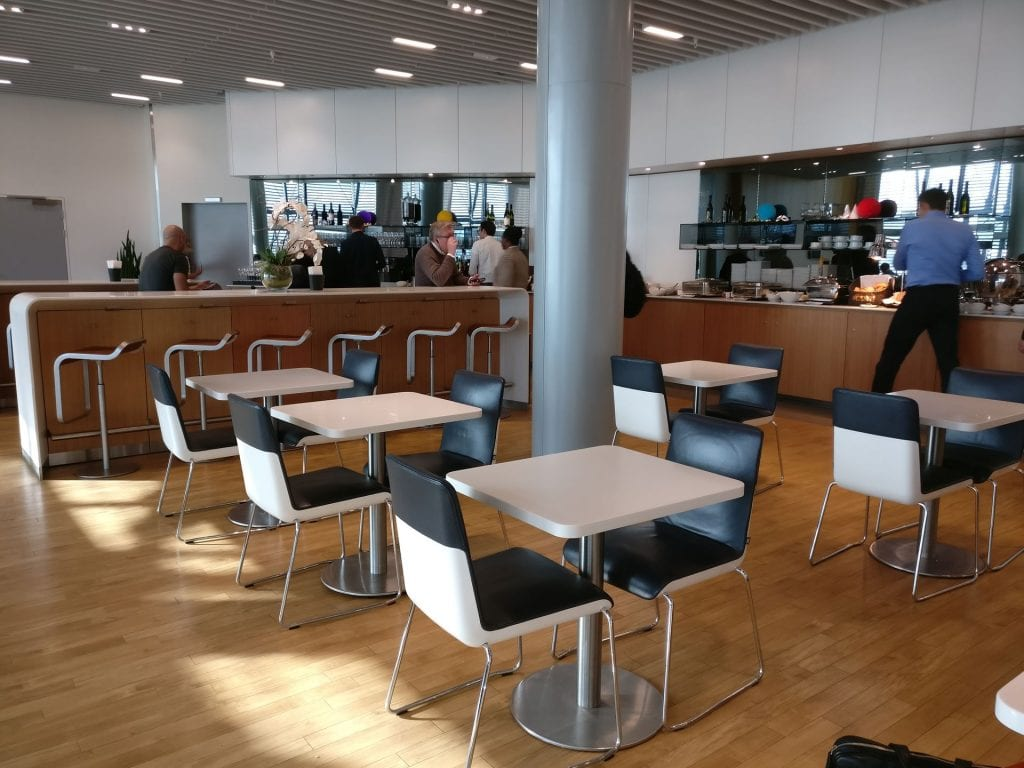 Lufthansa Business Lounge London Seating 4
