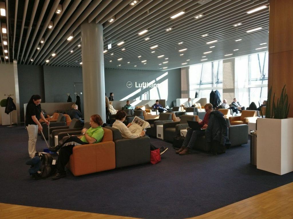 Lufthansa Business Lounge London Seating 5