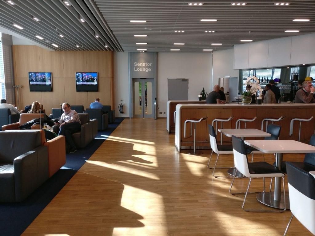 Lufthansa Business Lounge London Seating 6