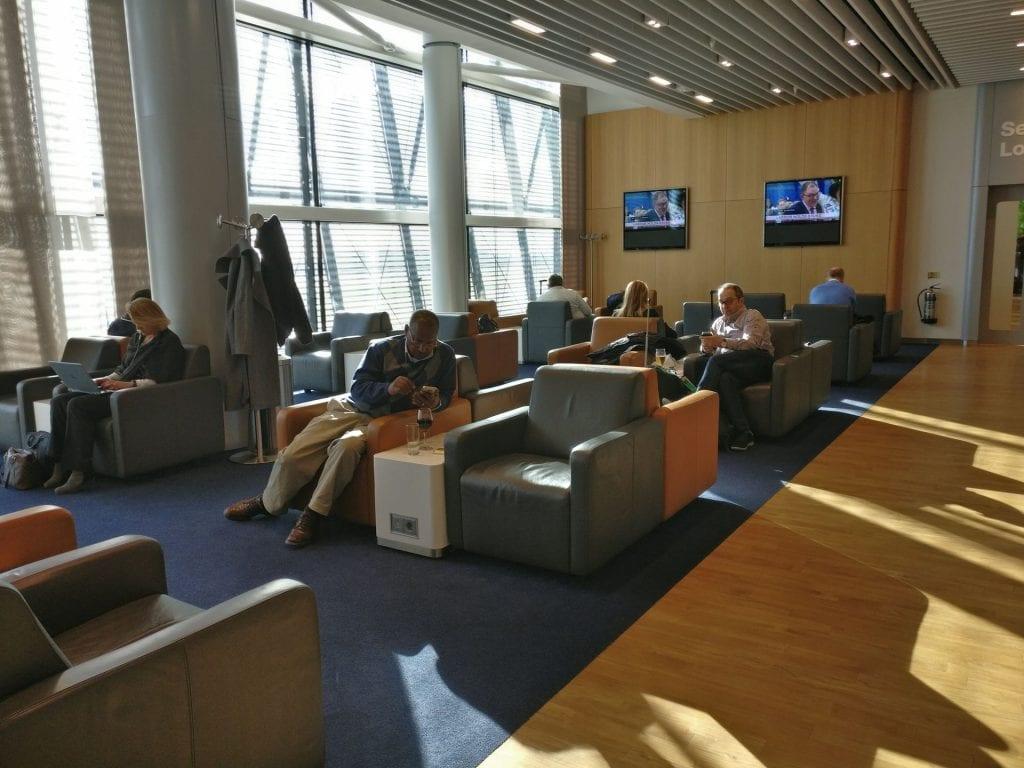 Lufthansa Business Lounge London Seating 7