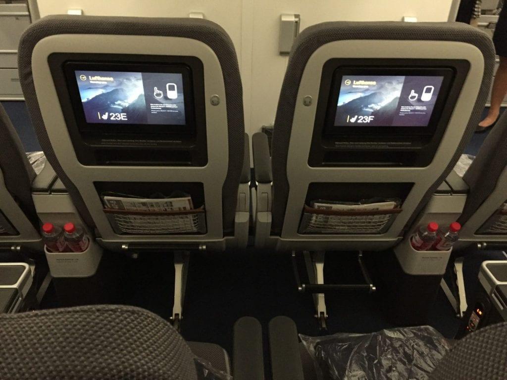 Lufthansa Premium Economy Class Boeing 747 Entertainment