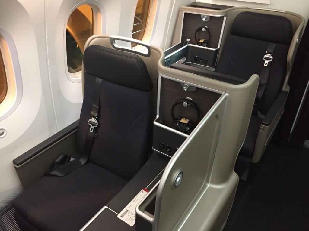 Qantas B7879 Business Class Sitz 7K