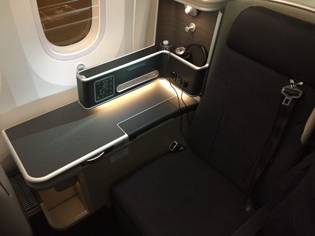 Qantas B7879 Business Class Sitz 8K