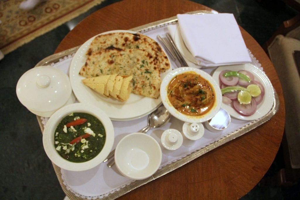 Room Service Dinner ITC Rajputana Jaipur 2