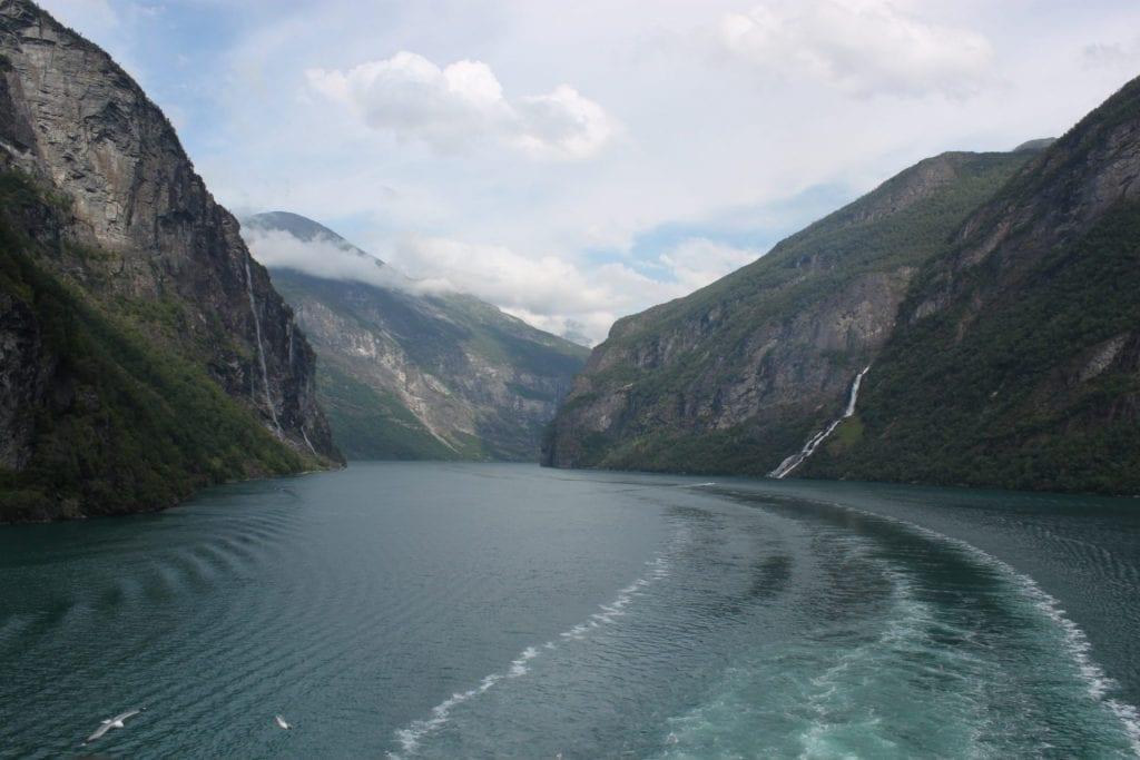 Sicht von der MSC Orchestra auf den Geiranger Fjord
