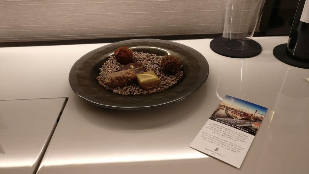 The Ritz Carlton Berlin Willkommensgeschenk