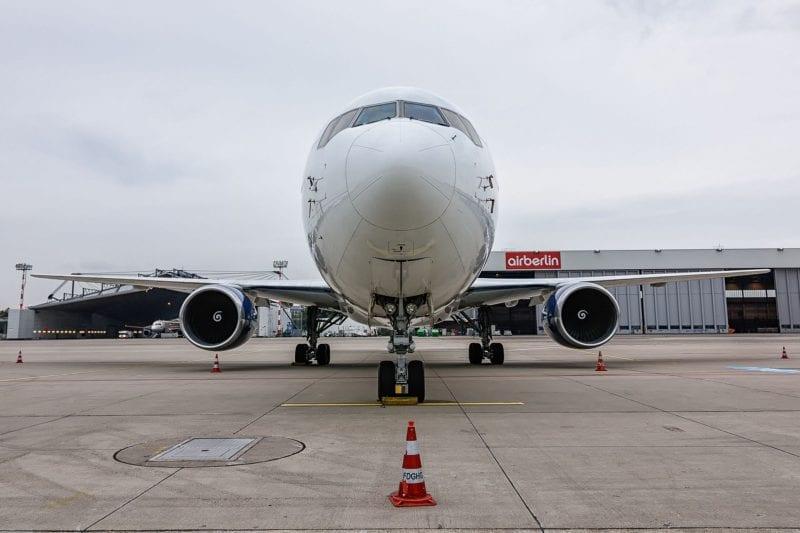 airberlin Maintenance Flugzeug Flughafen Düsseldorf