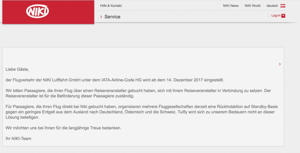 niki insolvenz webseite