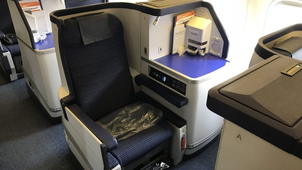 ANA all nippon Airways Business Class boeing 777 sitz gang