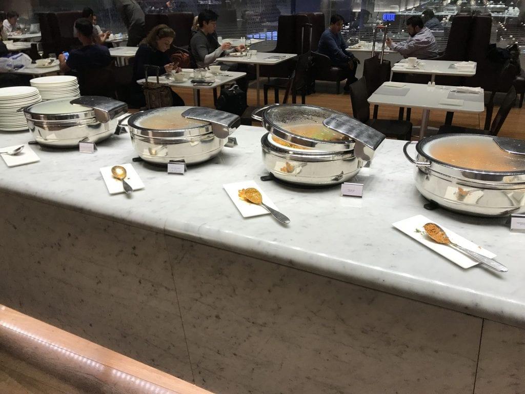 Al Mourjan Business Lounge Doha Abendessen