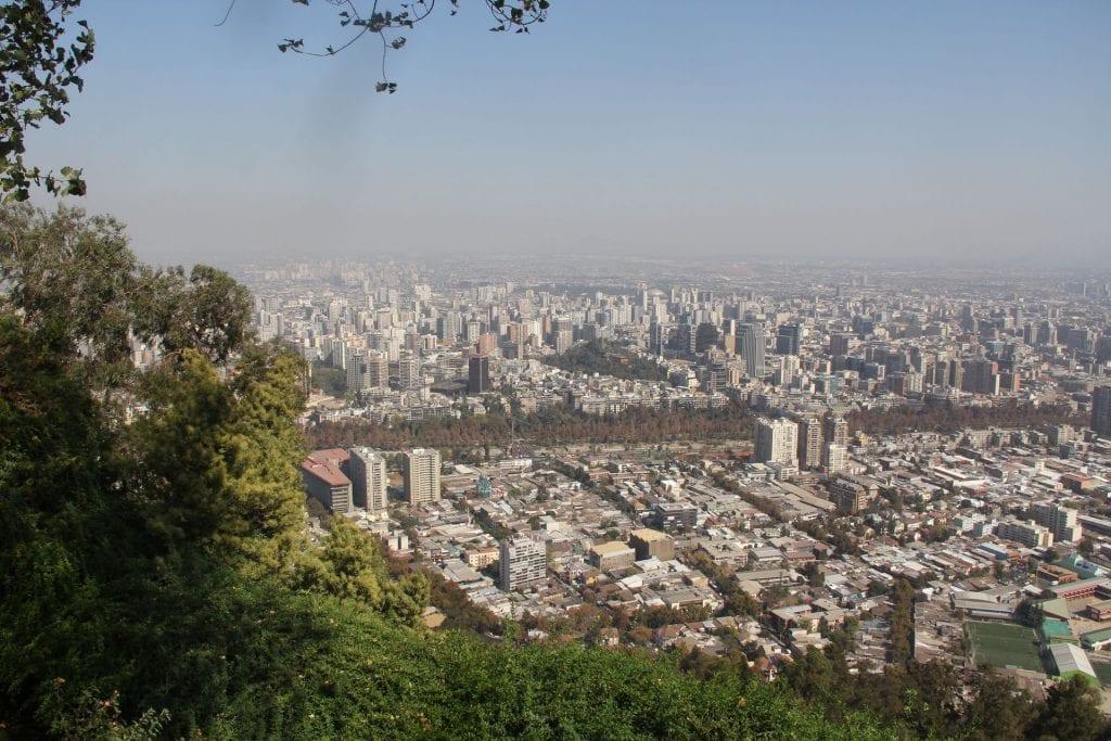 Cerro San Cristobal Santiago de Chile Ausblick