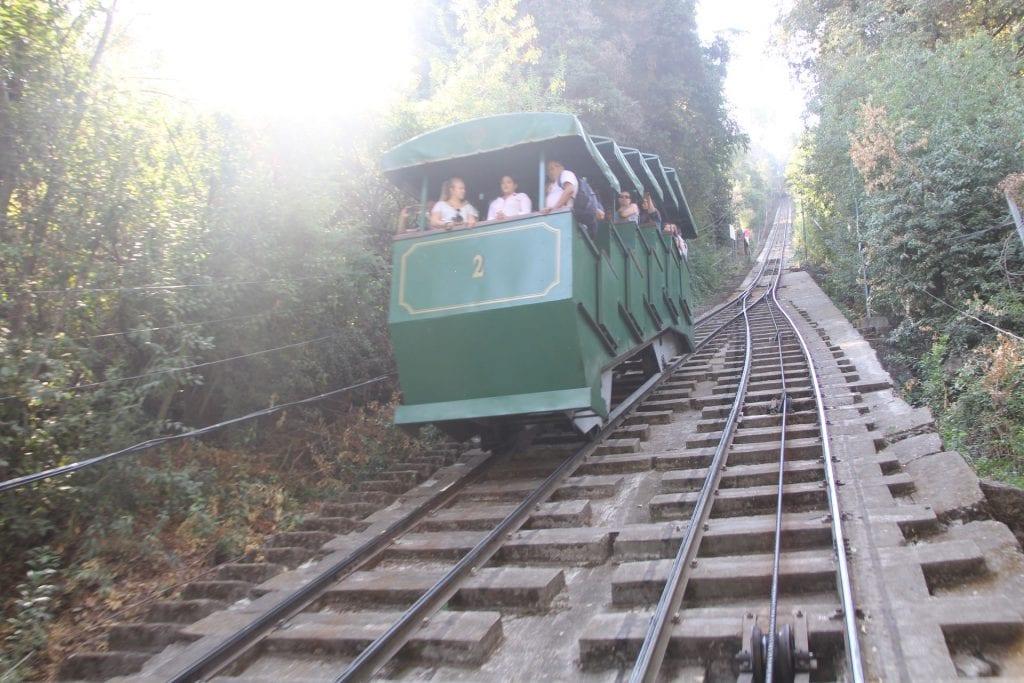 Cerro San Cristobal Santiago de Chile Zahnradbahn