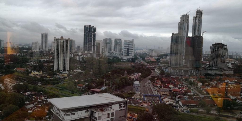 Double Tree Johor Bahru Aussicht Skyline Stadt