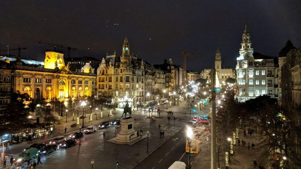 InterContinental Porto Ausblick Nacht
