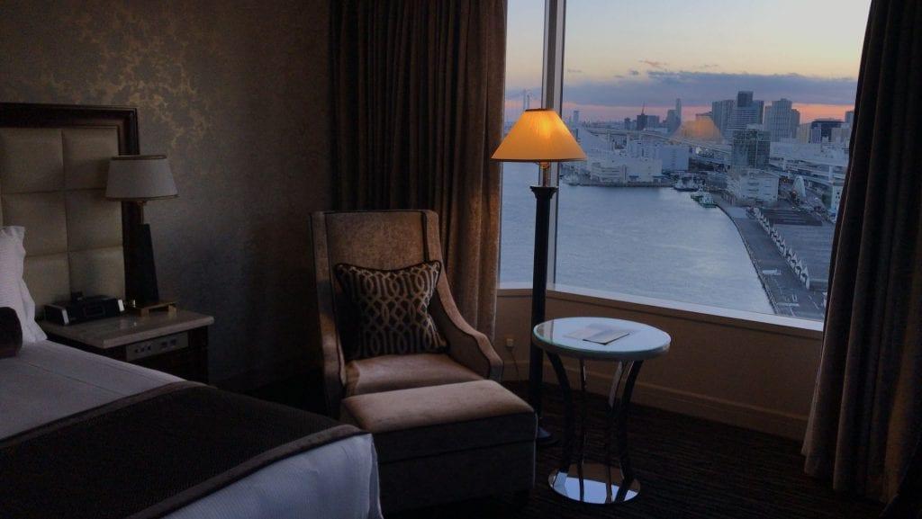 Intercontinental tokyo bay Zimmer sunset
