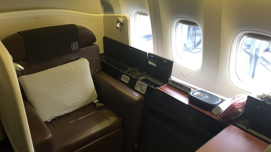 Japan airlines first class Suite Boeing 777
