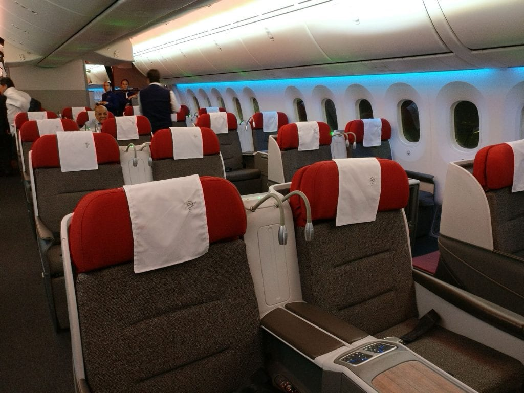 LATAM Business Class Boeing 787 9 Cabin fifth freedom