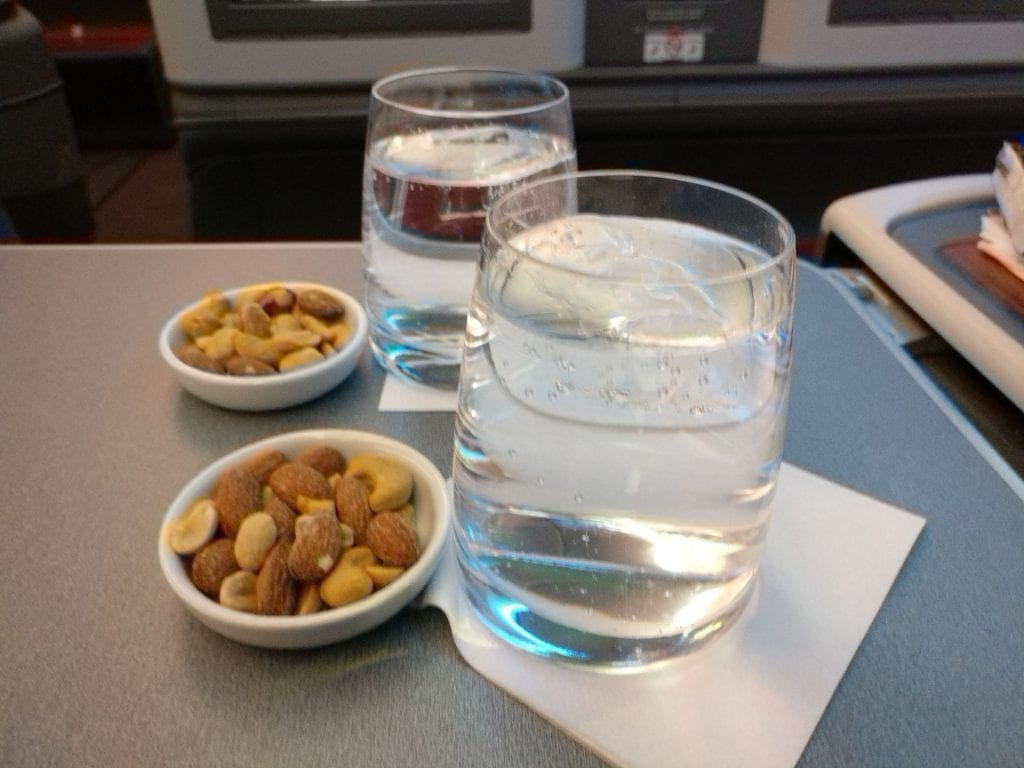 LATAM Business Class Boeing 787 9 Welcome Drink