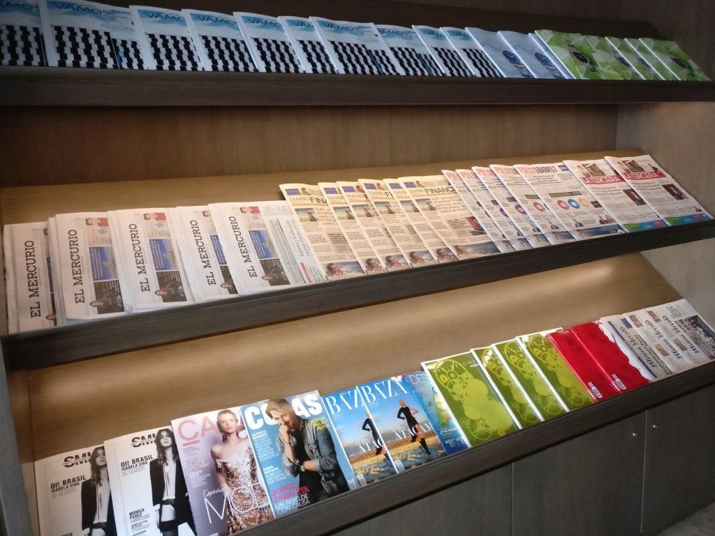 LATAM Lounge Santiago Newspapers
