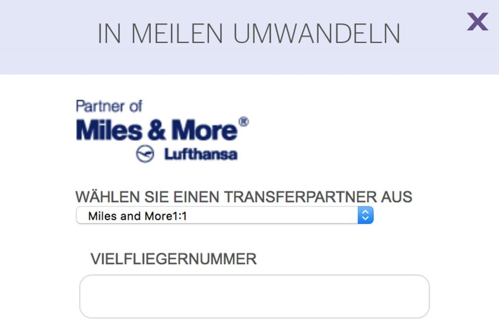 Miles and More Meilen bei SPG kaufen – Transfer