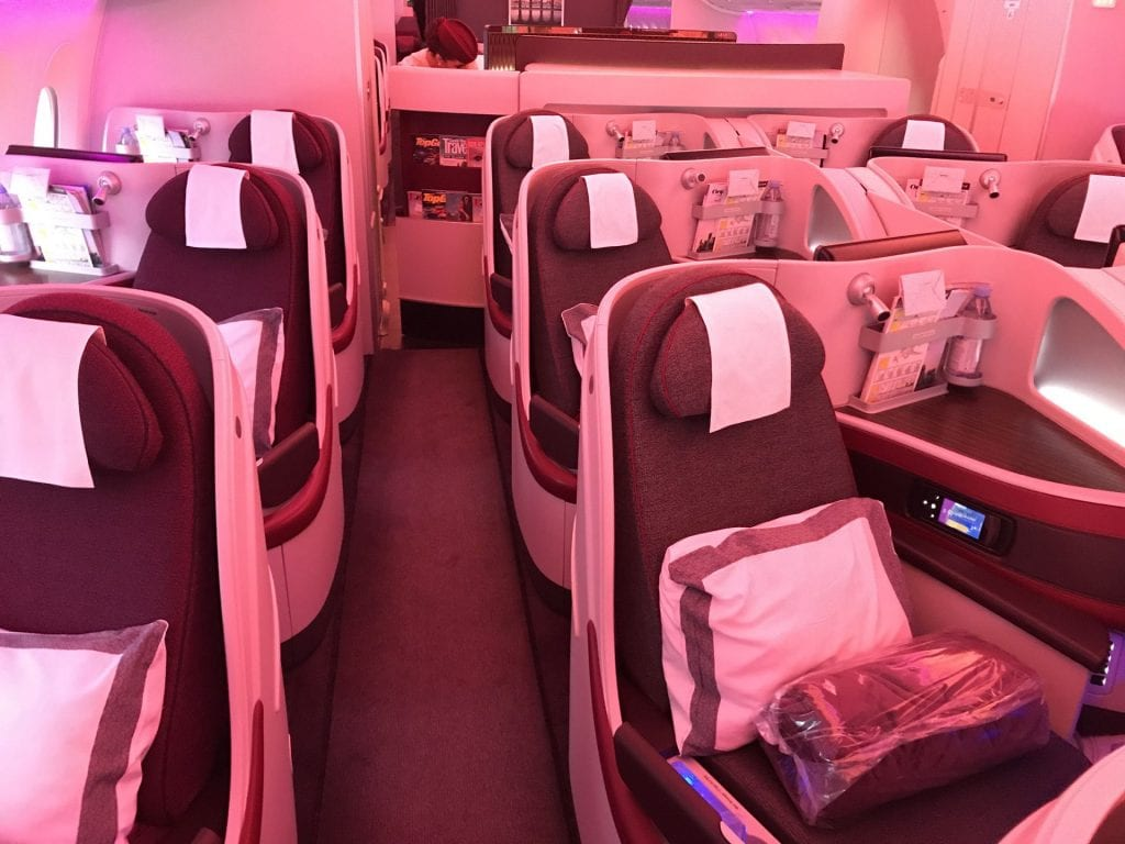 Qatar Airways Business Class Airbus A350 Sitze