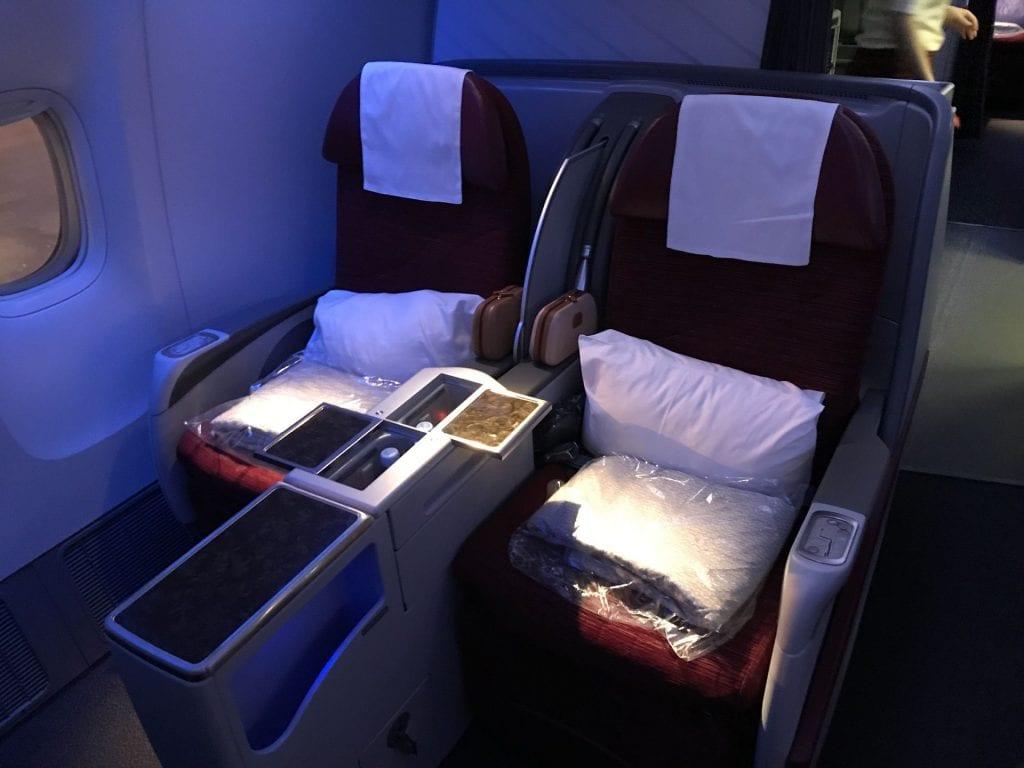 Qatar Airways Business Class Boeing777 Sitz