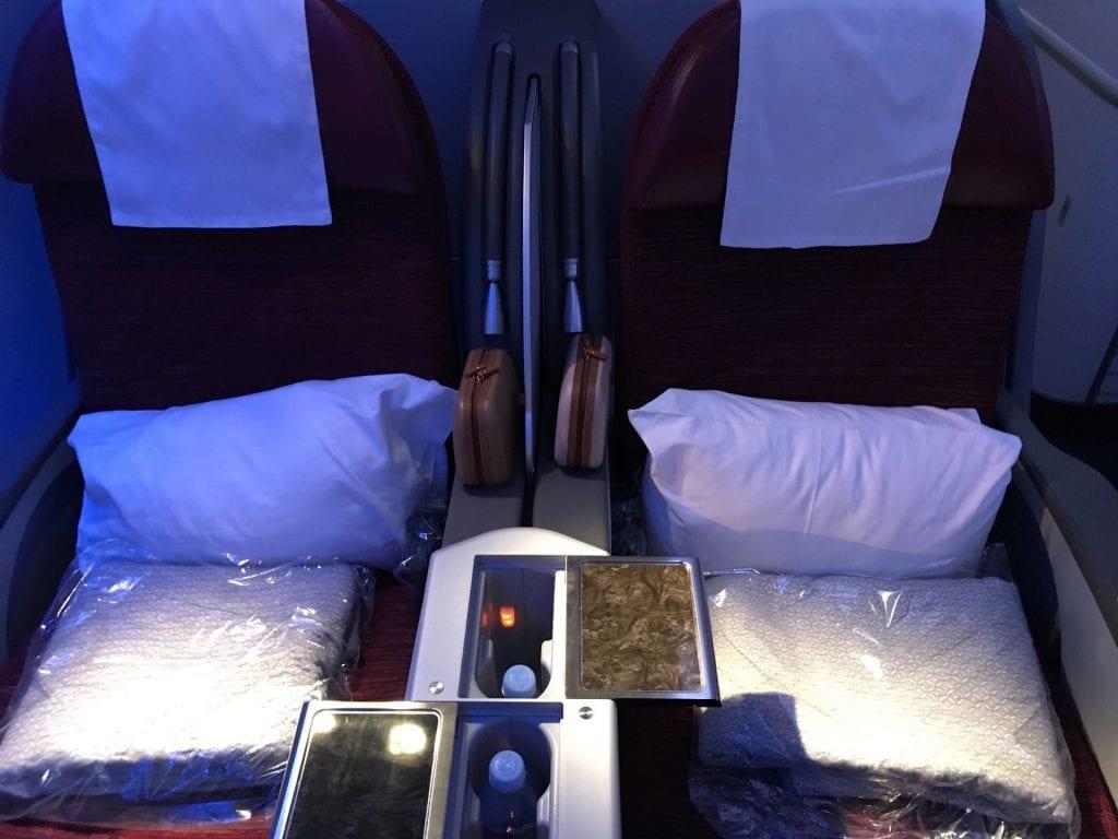 Qatar Airways Business Class Boeing777 Sitz 3