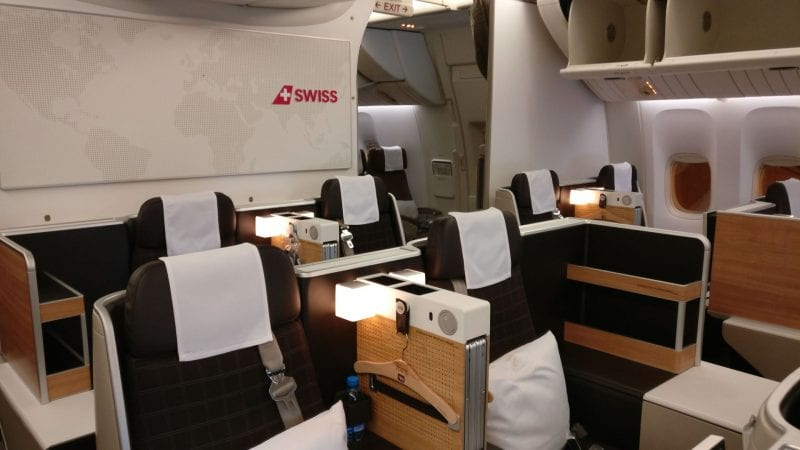 Swiss Business Class Boeing 777