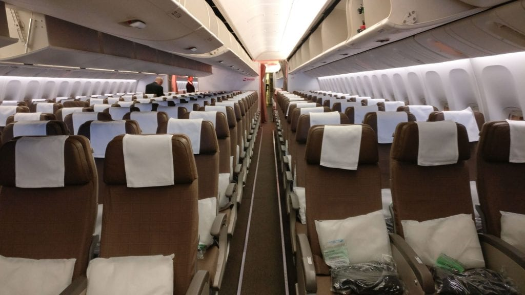 Swiss Economy Class Boeing 777