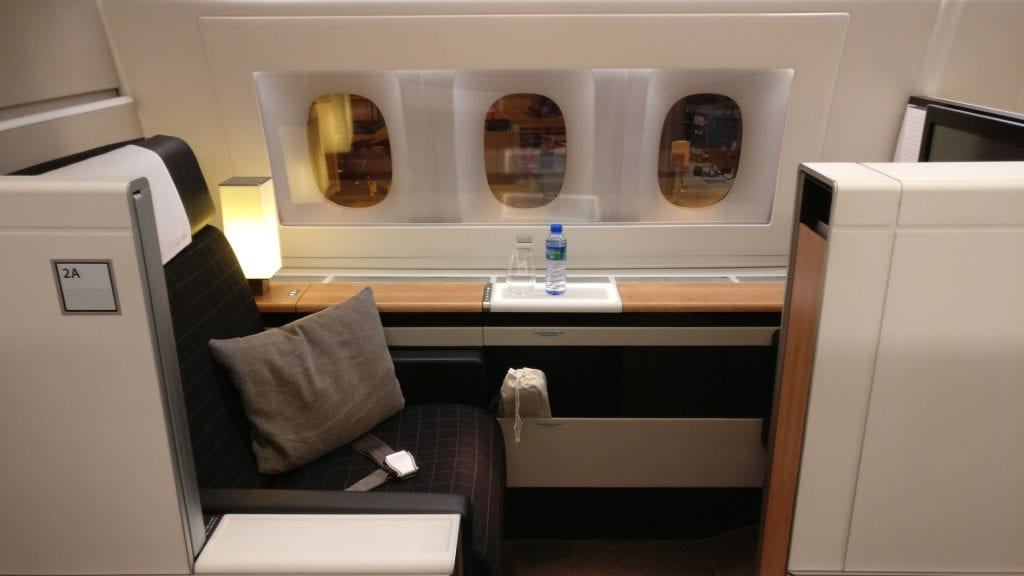 Swiss First Class Boeing 777 Suite