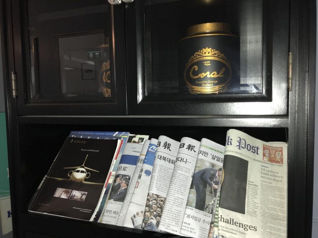 The Coral First Class Lounge Phuket Zeitungen