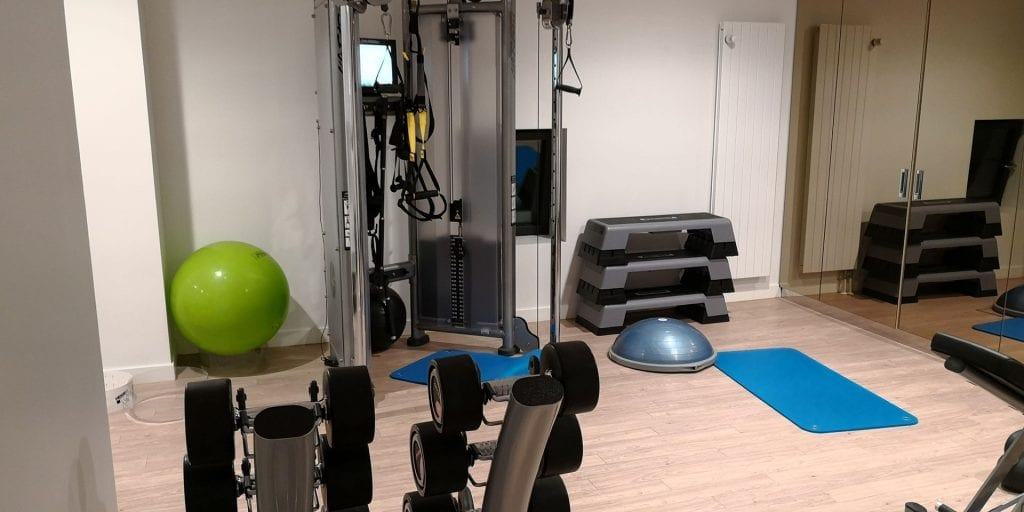 The Westin Hamburg Elbphilharmonie Fitness Raum Rack