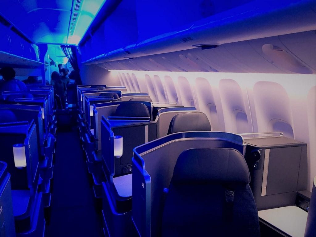 United Polaris Business Class Boeing 767 Kabine Sitze
