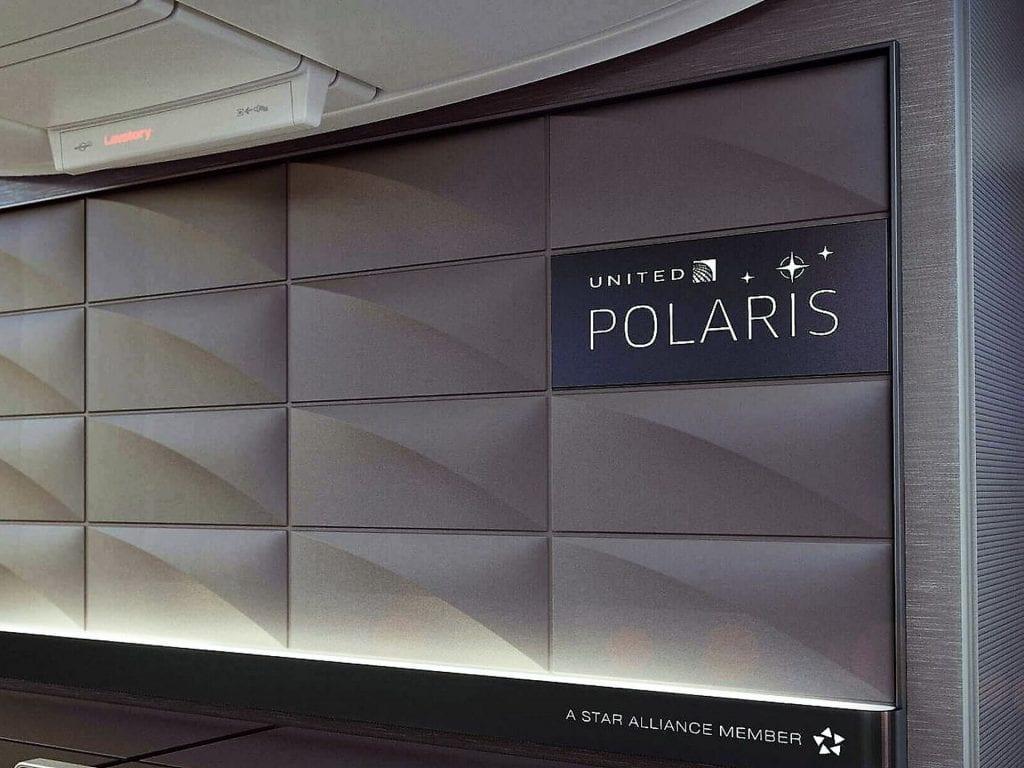 United Polaris Business Class Boeing 767 Polaris Logo