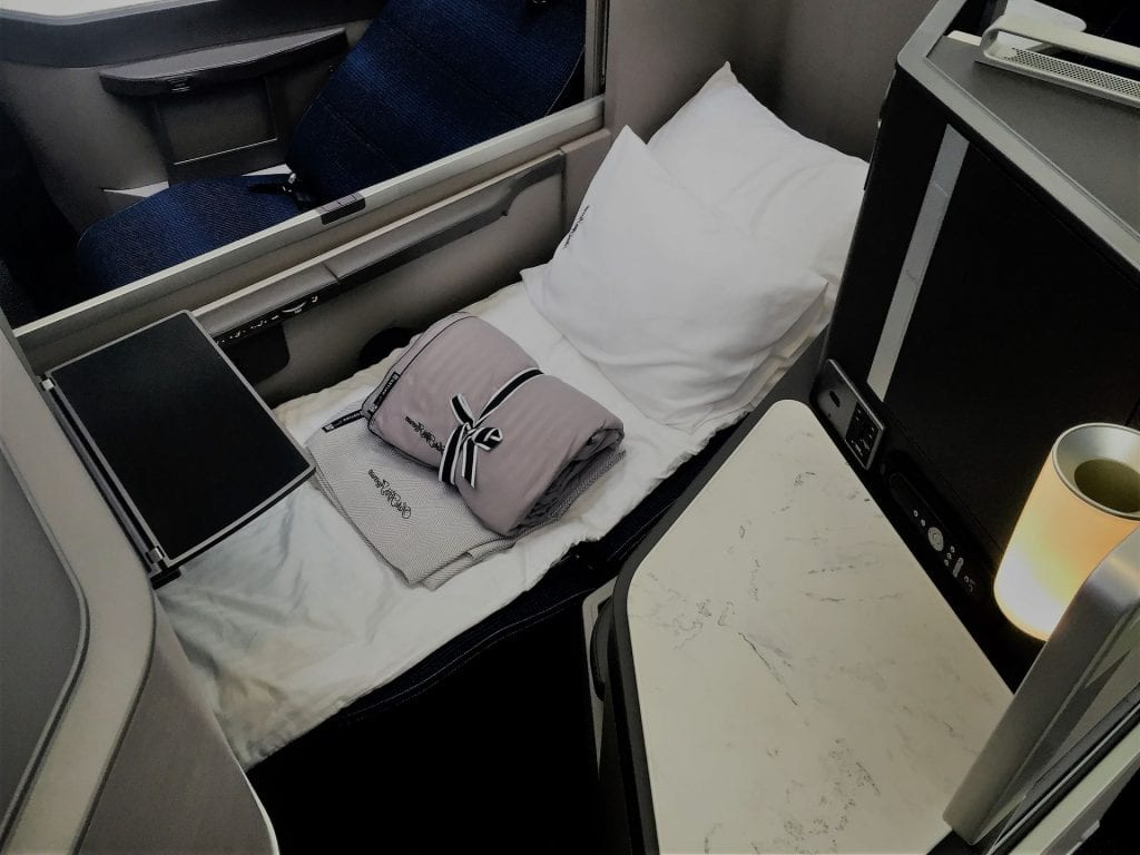 United Polaris Business Class Boeing 767 Sitz Bett