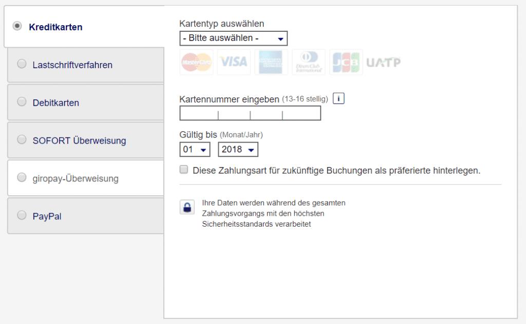 Zahlungsmoeglichkeiten Lufthansa