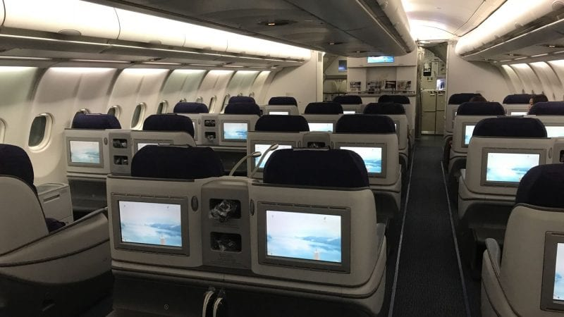 air china business class airbus a330 kabine